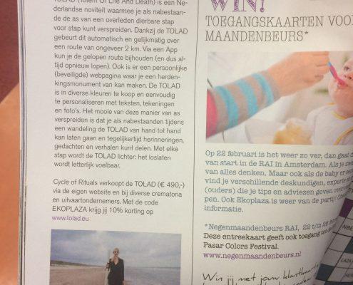 Artikel Tolad in magazine Ecoplaza